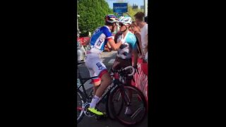 Bagarre Géniez et Dupont Giro 2016