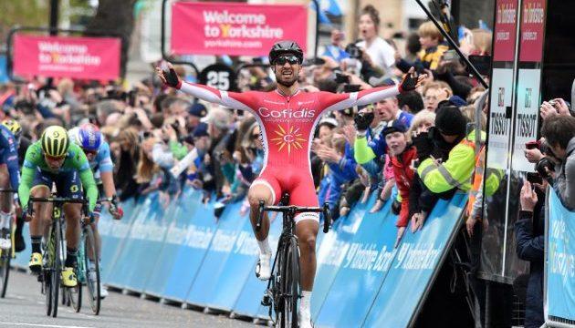 Nacer Bouhanni gagne l'étape de Tour du Yorkshire à Harrogate