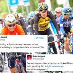 image Les coureurs tweet après s'être gelé sur le de Tour de Romandie