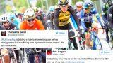 Les coureurs tweet après s'être gelé sur le de Tour de Romandie