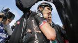 Geraint Thomas furieux après sa chute sur le Giro