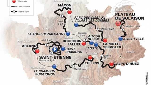 Parcours Dauphiné 2017
