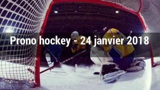 Prono hockey – 24 janvier 2018