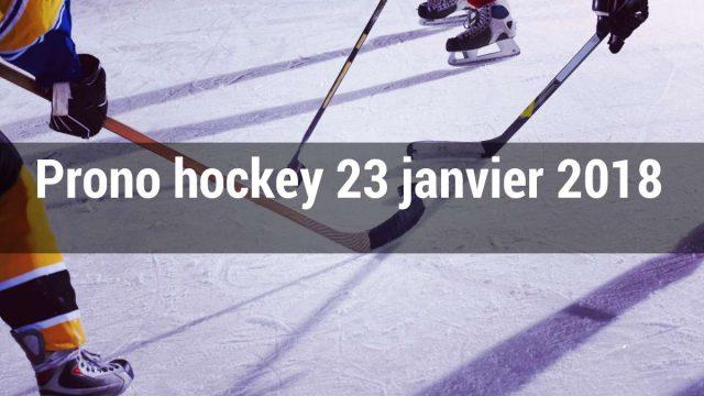 Prono hockey du 23 janvier 2019