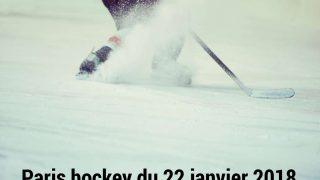 Pronos hockey du 22 janvier 2018